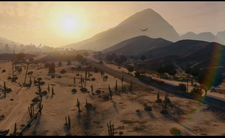 This screenshot gives a taste of how big the GTA V map will be