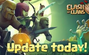 Clash of Clans down, Halloween update notes live