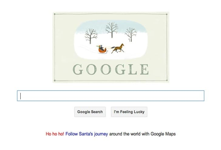 Happy Holidays Google 2013 Doodle arrives