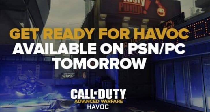 Advanced Warfare Havoc PS4 release time for US, UK