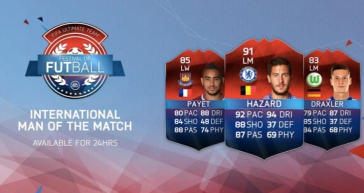 Eden Hazard iMOTM 91 Squad builder on FIFA 16