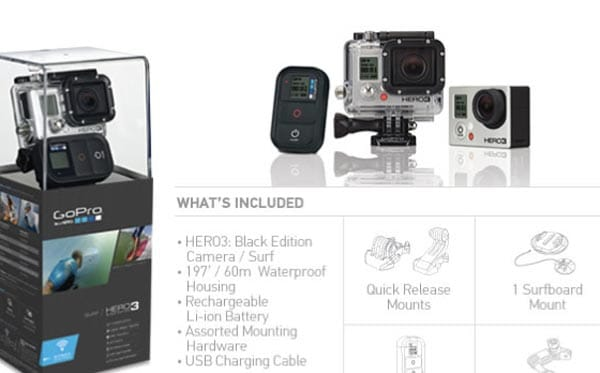 GoPro HERO3 4K camera delivers high-resolution video