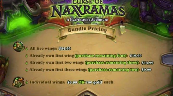 Hearthstone Curse of Naxxramas UK, US price chart