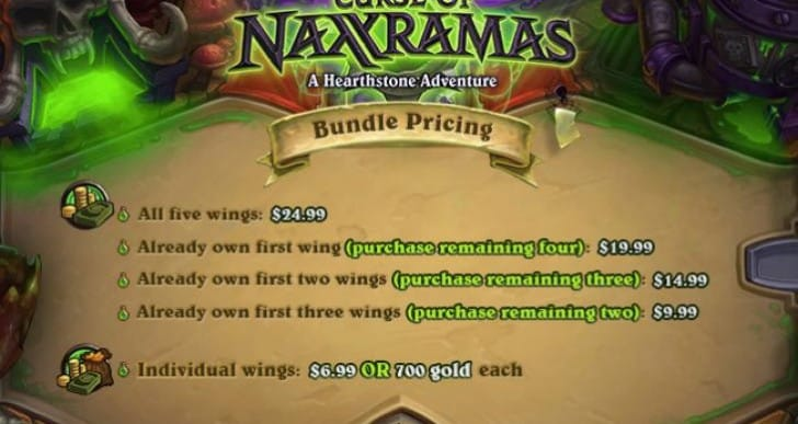 Hearthstone Curse of Naxxramas UK, US price chart