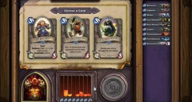 Early Hearthstone GvG review from Arena