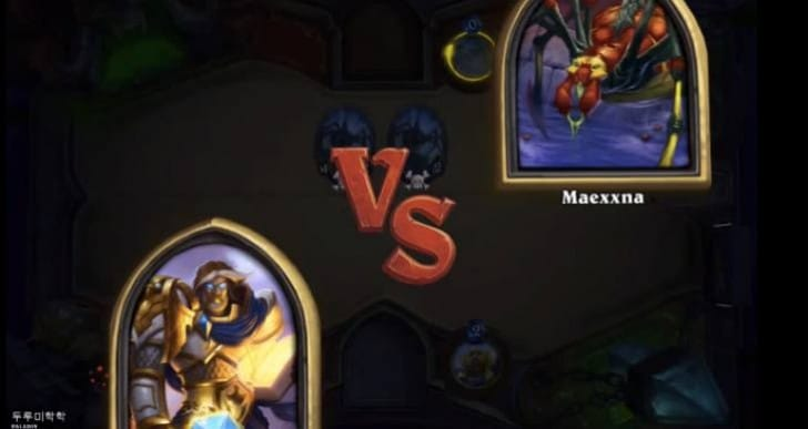 Hearthstone Naxxramas: Heroic Maexxna with 8 minute deck