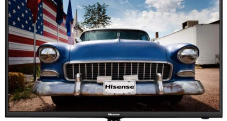 Hisense 40-inch Smart LED HDTV Apps list with manual