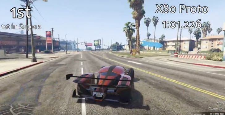 GTA 5 Grotti X80 Proto fastest car speed test