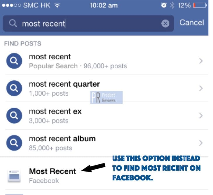 how-to-find-most-recent-on-facebook