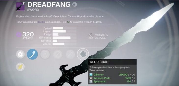 how-to-get-dreadfang-sword-in-destiny