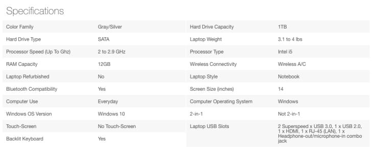 hp-laptop-specs