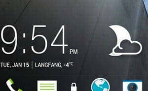 HTC M7 lock screen, app layout with Sense 5