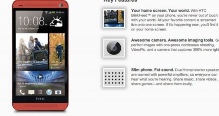 HTC One confusion over elusive Red variant