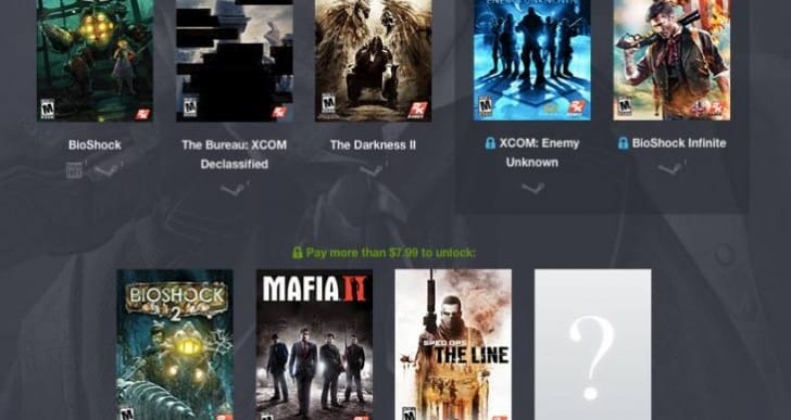 Humble Bundle 2K games list to die for
