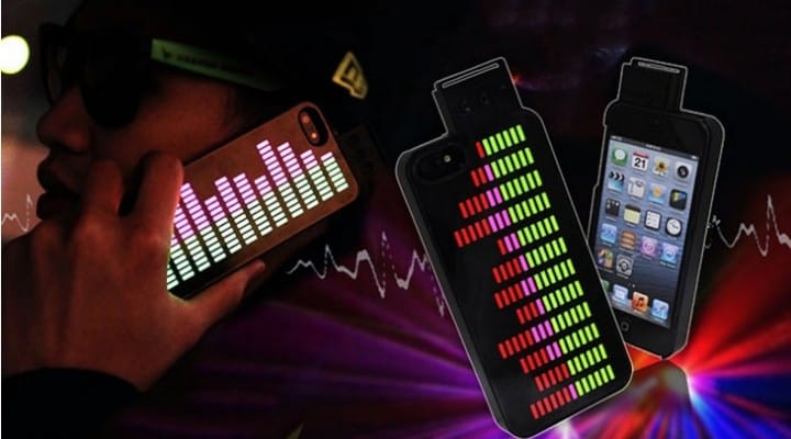 Equalizer case for iPhone 5 emits LED fun