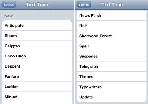 iphone text tones ios 4 2 new text tones iphone 3gs disappointment 12383