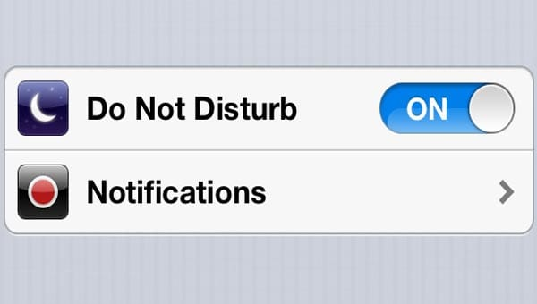 iOS 6 'Do Not Disturb' problem on iPhone 5 today