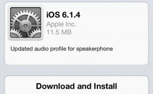 iOS 6.1.4 update live for iPhone 5, no battery fix