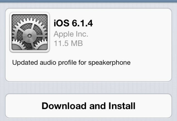 iOS 6.1.4 update live for iPhone 5