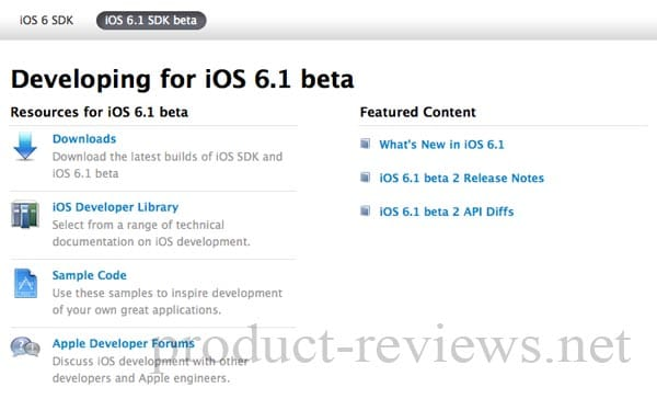 iOS 6.1 SDK beta 2 download with vital changes