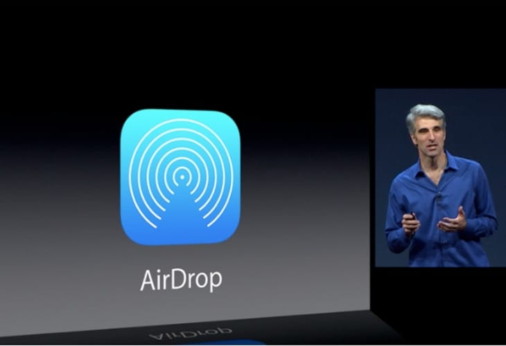 iOS 7 AirDrop distant for iPad will vary