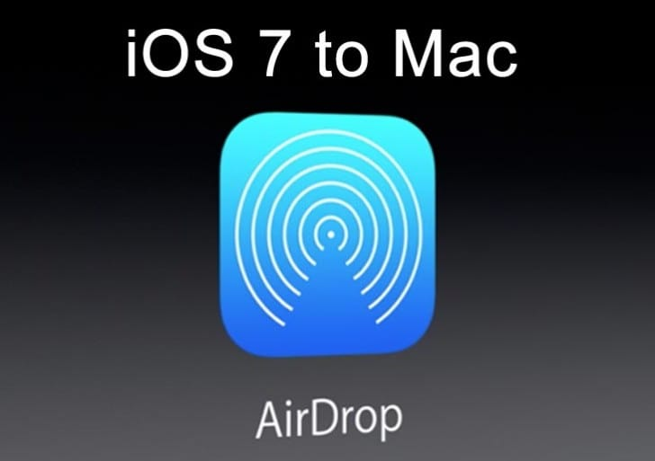 iOS 7 AirDrop to Mac desired with Mavericks