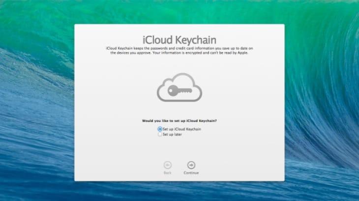 iCloud KeyChain for iOS 7 and OS X Mavericks