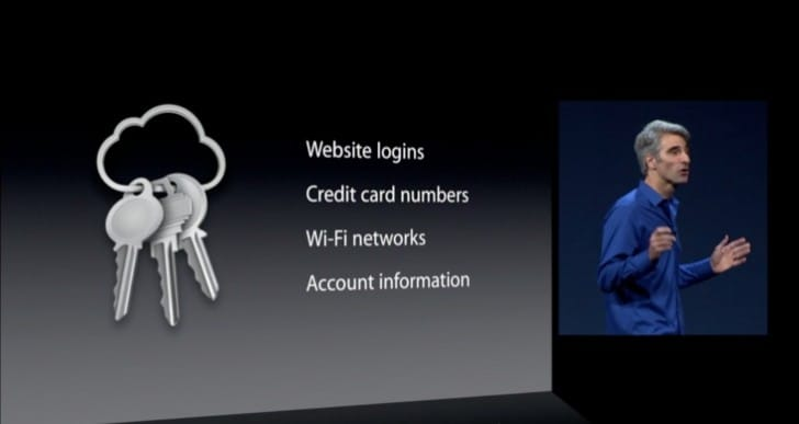 iOS 7 and Mavericks password syncing