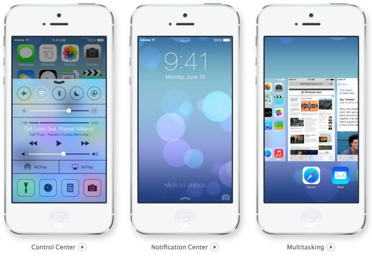iOS 7 animation and transparency, 1 of 10 new changes