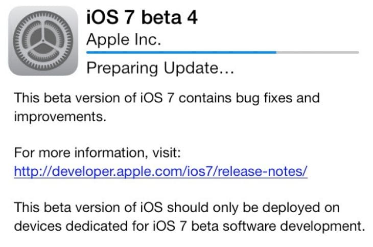 iOS 7 beta 4 issues fuels beta 5 release anticipation