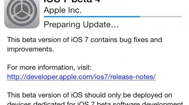 iOS 7 beta 5 on iPhone 5, 4S, 4 and Galaxy S4