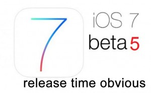 iOS 7 beta 5 release time today (Now Live)