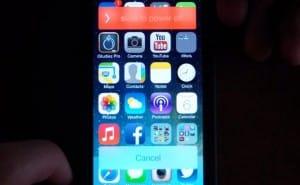 iOS 7 beta 5 slide to power video demo