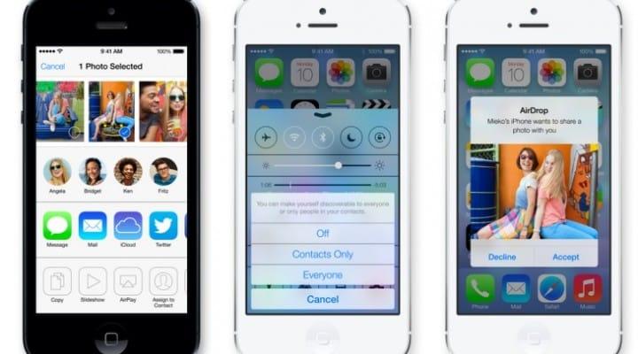 iOS 7 compatibility chart plus AirDrop clarification