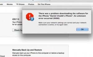 iOS 7 download causes server problems