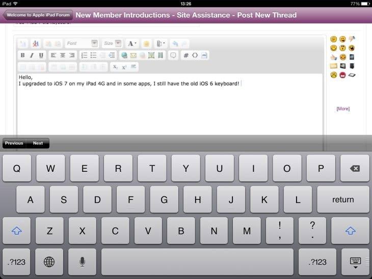 There is a possible fix for the iPad keyboard lag issue running iOS 7