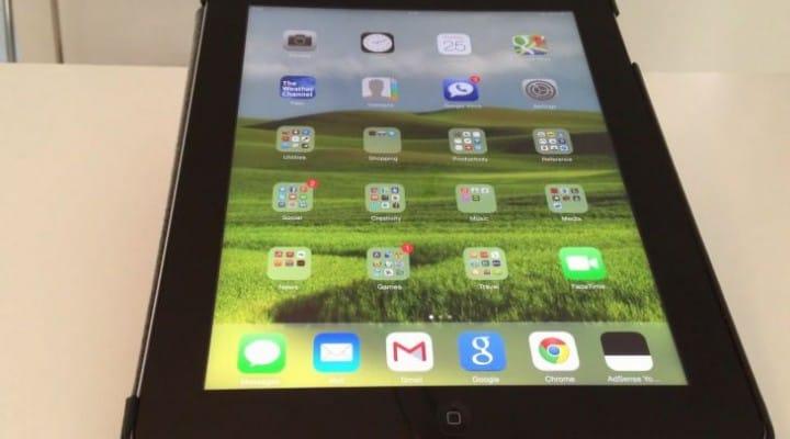iOS 7 visuals for iPad battery life fix