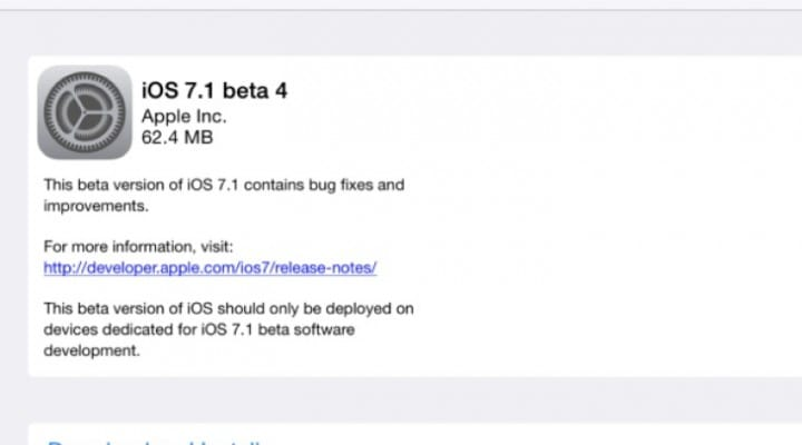 iOS 7.1 Beta 4 update live, extends public release date