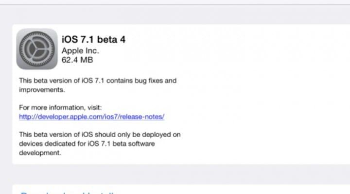 iOS 7.1 Beta 4 update live, extends public release date