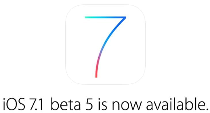 iOS 7.1 Beta 5 update live