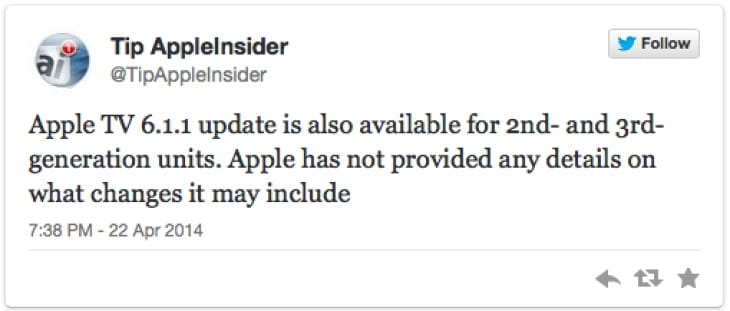 iOS 7.1.1 update live for Apple TV