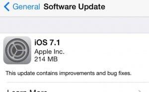 iOS 7.1 update live