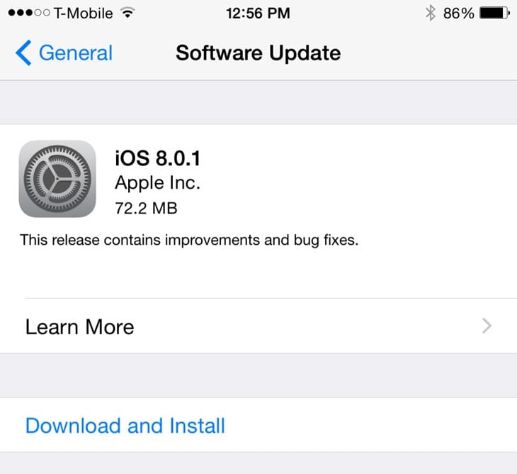 iphone update issues ios 8 01 update problems mount product reviews net 2626