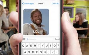 PopKey iOS 8 animated GIF keyboard app