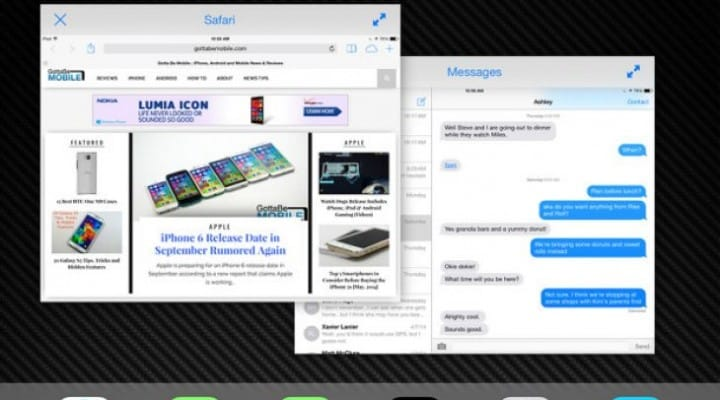 iOS 8 Split Screen Multitasking for iPad delayed