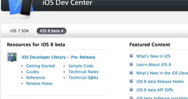 iOS 8 beta 5 release notes at 6PM today