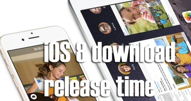 iOS 8 download release time is clear