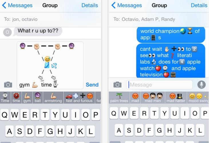 iOS 8 emojis for iPhone and iPad as you type