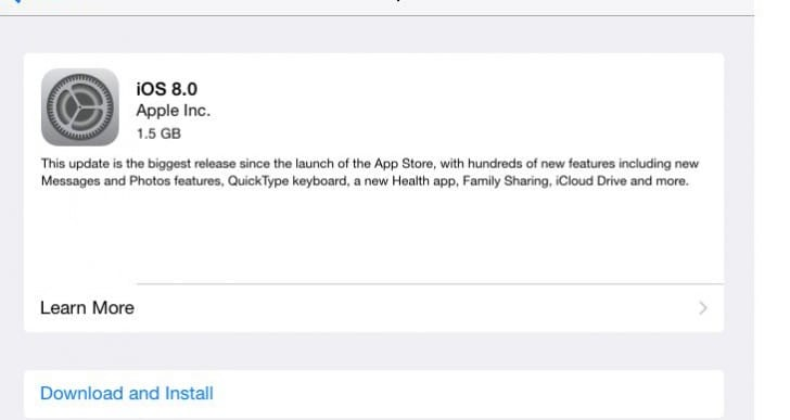 iOS 8 public update is live