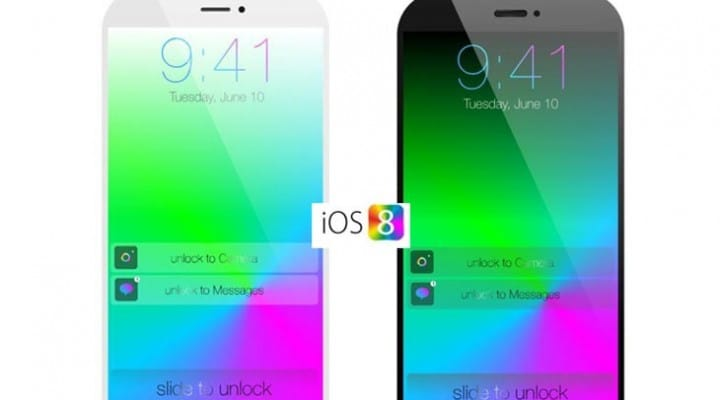 iOS 8 shown on iPhone 6 mini concept